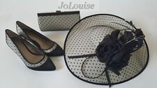 New Jacques Vert Shoes Hat Bag ~ Size 6 /39 ~ Mother Of The Bride Wedding Church