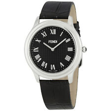 Fendi Classico Black Dial Ladies Leather Watch F250011011