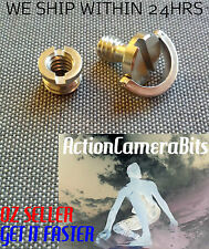 "1/4"" INCH Tripod screws D ring + 3/8 Convert Adapter Camera DSLR Quick Release"