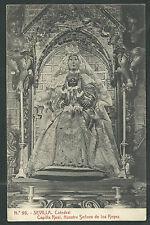 Postal antigua Virgen de los Reyes andachtsbild santino holy card santini
