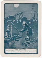 Playing Cards 1 Swap Card Old Antique Wide Bairnsfather WW1 OLD BILL FATALIST 3