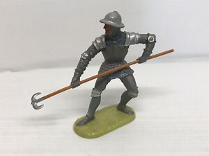 Figurine Old Elastolin Series Medium Age - Knight With Lance - 7cm