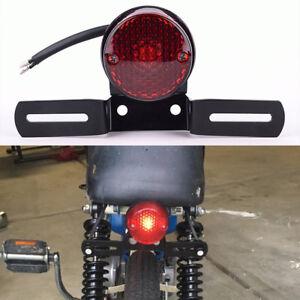 12V Motorcycle License Plate LED Brake Tail Light For Bobber Cafe Racer Chopper