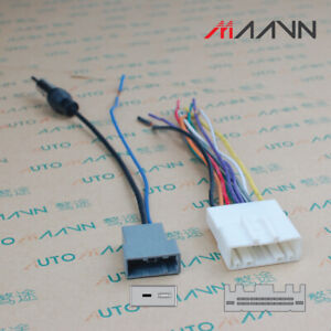 Car Stereo Radio CD DVD Wiring Harness For NISSAN with Antenna Adapter Cable