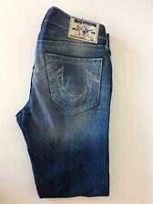 """True Religion Jeans Rectos Calce Ajustado Pierna, W32"""", L32"""", Denim Blue, en muy buena condición RRP £ 280"""