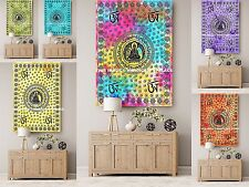 Lord Buddha Tapestry Indian Cotton Wall Hanging Table Cover 5 PC Wholesale Lot