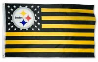 Pittsburgh Steelers 3x5 Foot American Flag Banner New