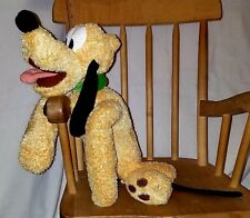 "Disney PLUTO PLUSH soft & fluffy 15"" Needs a bubble bath"