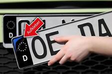 Nummernschild - Kennzeichen Aufkleber - EU Feld in schwarz