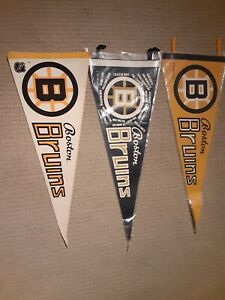 3 BOSTON BRUINS Pennants 1970 STANLEY CUP CHAMPIONS TEAM ROSTER VINTAGE