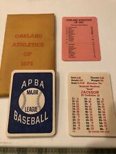 APBA GTOP 1972 OAKLAND ATHLETICS A's SET NM-MINT