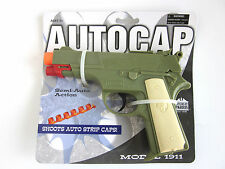 Model 1911 Colt  military semi Auto Automatic pistol Cap Gun hand TOY Italy New