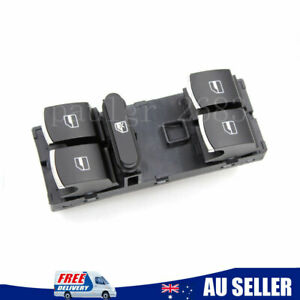 For VW Jetta Golf MK5 MK6 Passat B6 Caddy Chrome Master Window Switch 5ND959857