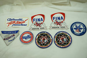 AIRSHOW PATCH AIR SHOW PATCHES LOT DAYTON TORONTO LONDON FINA CONTINENTAL