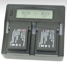 LCD Dual Charger +2x Battery for Fuji NP-W126 BC-W126 FinePix HS30 X-Pro1 X-E1