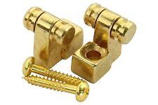 Roller String Tree Retainer for guitar - 2pk - Gold