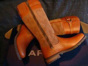 """Ariat Loxley H2O  Women  Boots Honeycomb Leather Waterproof 7.0US Shaft 16"""" NIB"""