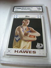 SPENCER HAWES KINGS 2007 TOPPS WHITE ROOKIE RC # 10 GRADED 10