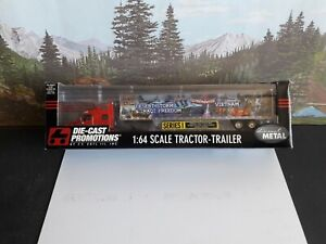 DCP 1:64  Peterbilt 387 Semi Tractor And Dry Van Trailer.  (Forever Remembered)