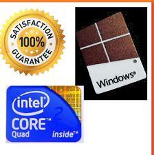 Intel QUAD 2 CORE INSIDE Gratis Adesivo con computer Windows 10 7 PC ORIGINALE 8 XP Base