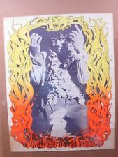 Vintage Poster Hendrix Experience  Rock n' Roll 1968 Inv#G1410