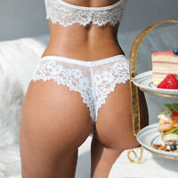 Women Sexy Lace Lingerie Temptation Low-Waist Panties Thong Hollow Out Underwear