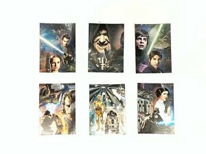2009 Topps STAR WARS GALAXY SERIES 4 ETCHED FOIL CARD #1 - #6