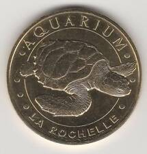 -- 2015 COIN TOKEN JETON MONNAIE DE PARIS -- 17 000 AQUARIUM LA ROCHELLE TORTUE