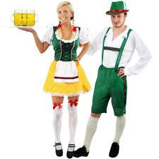 COUPLES BAVARIAN FANCY DRESS COSTUMES HIS HERS OKTOBERFEST GERMAN BEER FESTIVAL