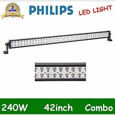 "42"" PHILIPS 240W Spot Flood Combo Led Light Bar Offroad 4WD SUV UTE Driving 300W"