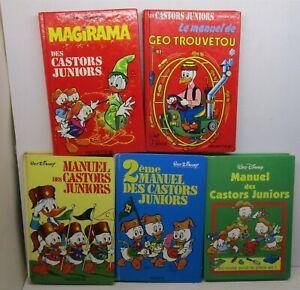 """lot manuels des castors juniors """"X5"""