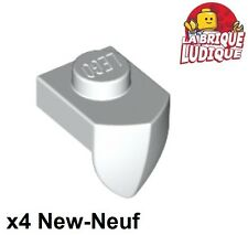 Lego - 4x Plate Modified 1x1 Tooth dent Vertical blanc/white 15070 NEUF