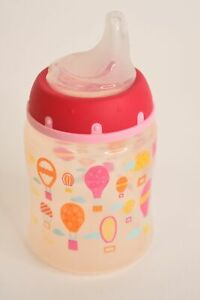 Nuk Clear 5 Oz 150ml Sippy Cup Bottle W/Ounce Markings & Assorted Balloon Design