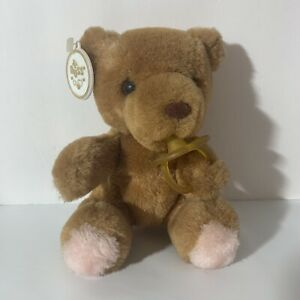 """Vintage Russ Baby Bear Bibi Plush with Toy Pacifier #844 6"""" with Tag"""