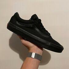 Men's VANS Old Skool Triple Black Canvas Trainers 751505 Size UK10 EUR44.5