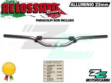 MANUBRIO MINI MOTO ALLUMINIO 22mm + TRAVERSINO SENZA PARACOLPI ACCOSSATO TITANIO
