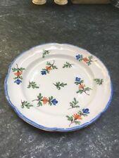 runder Teller Keramik Handarbeit Frankreich / mehrfarbig shabby chic