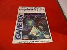 Asteroids Nintendo Game Boy Vidpro Promotional Display Card ONLY