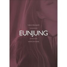 T-ARA-[What's my name] 13th Mini Album EUNJUNG Ver.CD+Photobook+Photocard Sealed