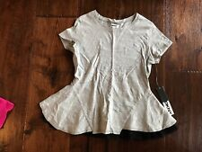 NEW DKNY Gray Short Sleeve Shirt in Girls Size L