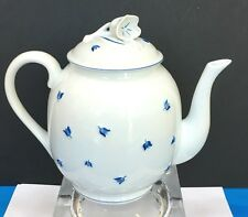 LALIQUE LIMOGES BLUE MUGUET TEA POT VERSEUSE >> EXCELLENT CONDITION