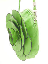 PURSE GREEN ROSE FLOWER BAG YOUNG LADIES ACCESSORY - COSMETIC FASHIONABLE CLUTCH