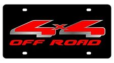 New Ford 4X4 Off Road Red Logo Acrylic License Plate