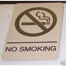 Real No Smoking Braille Sign