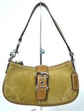 COACH BROWN GENUINE LEATHER SUEDE SMALL LITTLE CUTE BAG