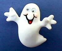 Hallmark PIN Halloween Vintage GHOST Googly Eyes 1993 Holiday Brooch