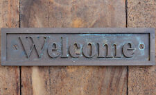 """Welcome"" New Bronze Wall or Door Plaque, Sign for Cafe, Home, Office or Bar"