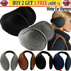 Women Men Ear Muffs Winter Ear Warmers Fleece Plush Earmuffs Behind Band Head uk