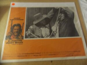 THE OUTLAW JOSEY WALES(1976)CLINT EASTWOOD ORIGINAL MEXICAN LOBBY CARD NICE!