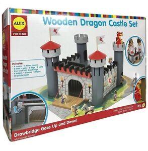 Alex Wooden Dragon Castle  BUILDING  SET MAKE BELIEVE PUZZLE MID-EVIL